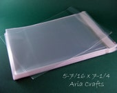 100 5-7/16 x 7-1/4 Clear Resealable Bags for A7 size card w/envelope