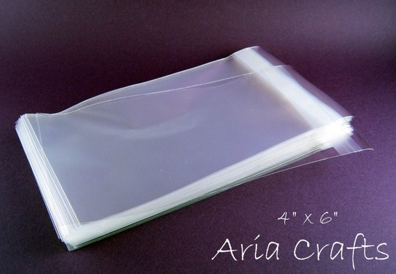 100 4 x 6 Clear Resealable Cello Bags
