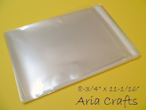 50 8-3/4 x 11-1/16 Clear Resealable Cello Bags