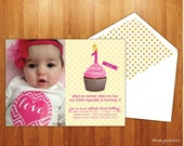 Little Cupcake - Themed Birthday Invitation and Party Pack - DIY Printable PDF