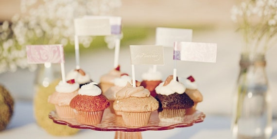 Printable DIY Cupcake Flags and Drink Flags - Party Flags