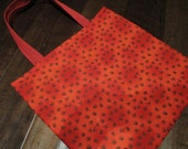 Pawprint red tote bag - large