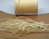 Solid Stitched Center Ribbon -- 1/8 inch -- Cream and Sugar  Off White Ivory
