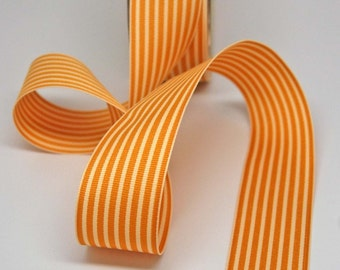 Striped Grosgrain Ribbon -- 1.5 inches -- Honey Cream