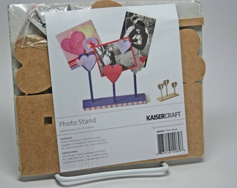 SALE KaiserCraft Wood Heart Photo Stand -- Unfinished -- Do It Yourself