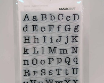 KaiserCraft Alphabet Clear Stamps -- Acrylic -- Typewriter Font Classic Upper Lower Case