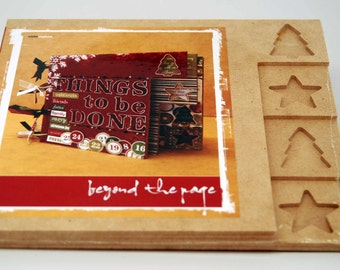 SALE  KaiserCraft Wood Christmas Tabbed Album  -- Unfinished -- Beyond the Page DIY