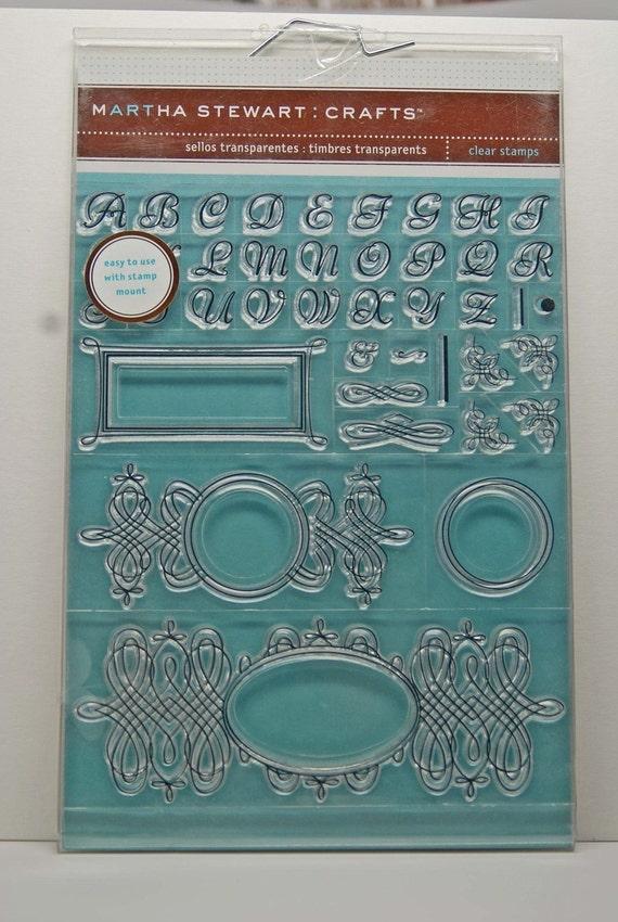 Martha Stewart Calligraphy Clear Stamp Set By
