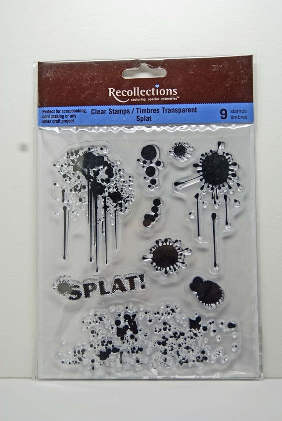 Recollections Clear Stamps Splat Paint Splatter