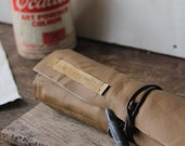 The Artist's leather tool roll // Tan and caramel brown