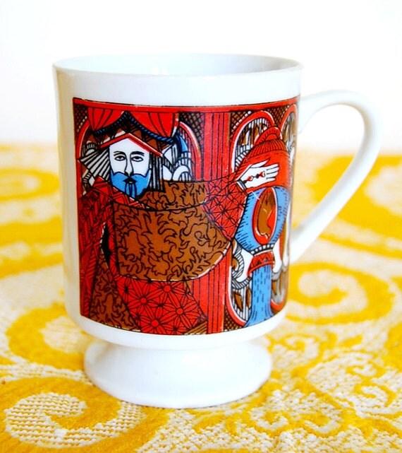 Retro Boho Bohemian Vintage Horoscope Ren Fair Aquarius Mug Cup