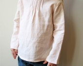 SALE Soft Pink Linen Pintuck blouse 12m ready to ship tunic last one