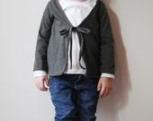 Sweet Grey Cardi 12m  3T  ready to ship cardigan sweater