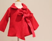 new Chic Cocktail Swing Coat  red  2t/3T ready to ship coat jacket LIMITED