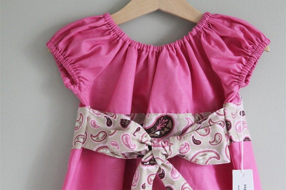 New Perfect Little Party dress 3t  ready to ship Pink paisley (only 1 left)