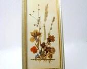 Pressed Flower Arrangement Framed Vintage