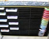 Upcycled Cassette Storage Rack - Organizer Shelf - for Ink pads, ribbons, stamp blocks, etc