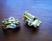 Gold Christian Dior Clip Earrings Vintage -- Classic Mr. Dior