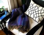 vintage PASADENA  striped wool throw blanket