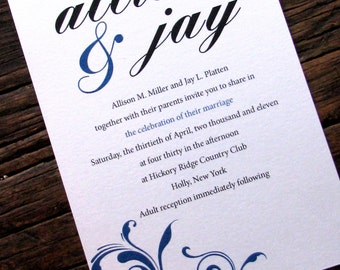 Modern Formal Wedding Invitation