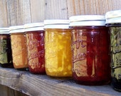 Pick ANY 4 flavors- Jams/Jelly/Salsa- 8oz jars