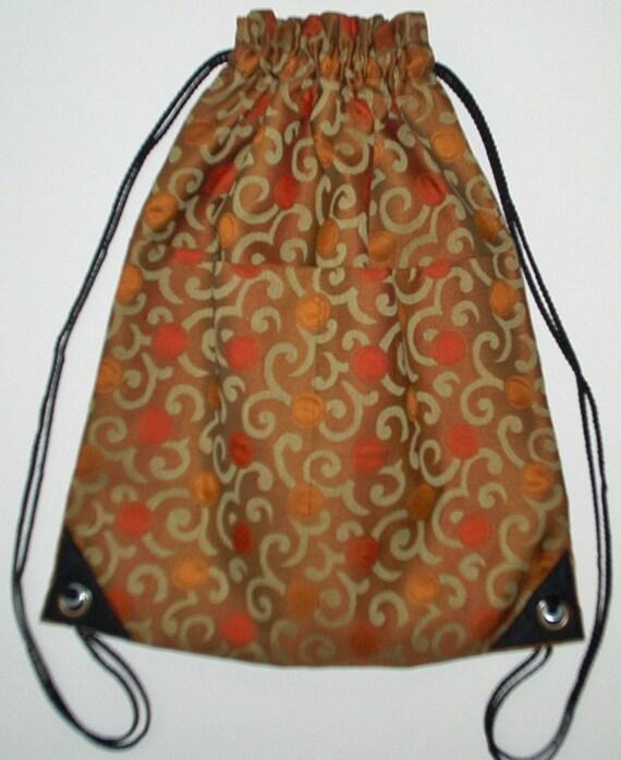 2 Pocket Drawstring Backpack Laptop Bag Bookbag SAC91