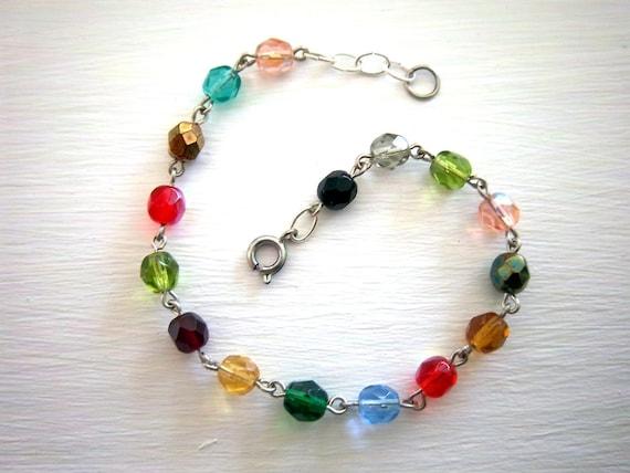 Colorful Fire-Polish Glass Bracelet