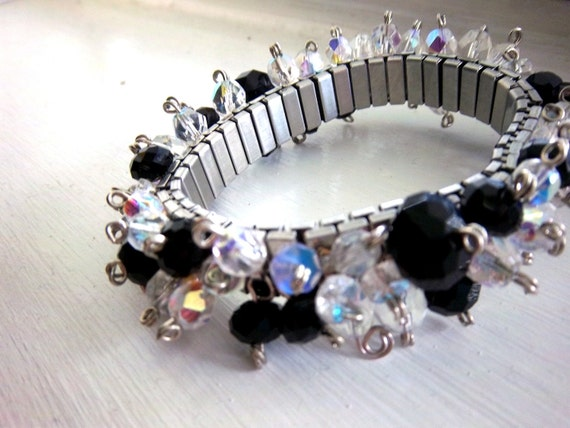 Black and White L'Ombre Stretch Bracelet