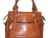 Reserved listing for Suzanne Singleton Tan Leather Handbag Purse Shoulder Cross body Bag Rina mini