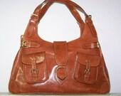 Reserved for Lisa Pavano Tan Leather Handbag Tote Shoulder Bag Amy