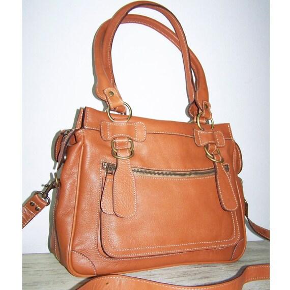 Leather Purse Handbag Shoulder Cross body Bag Rina mini in tan SALE