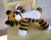 Adorable Hobbes doll from Calvin and Hobbes Crocheted No.13