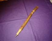 Hand carved wood pen
