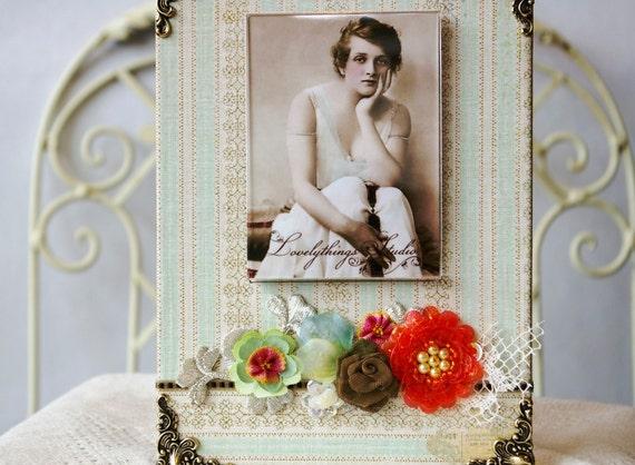Ручной фоторамки, весна стиле, цветочные, декоративные сборки рамку для фотографии
