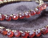 Crimson Red, Red Pyrope Garnet Hoop Earrings, Did I Mention They're Red -- January Birthstone