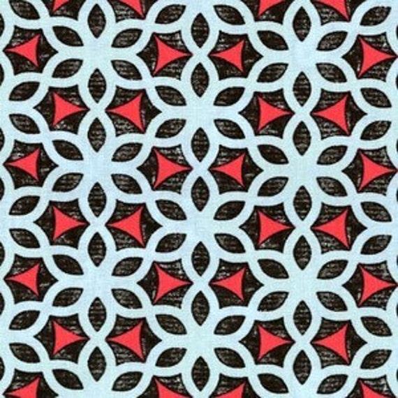 "LAMINATED COTTON Kimono Ice Impressions by Ty Pennington, BPA free, 57"" Wide - 1 Yard"
