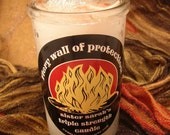 Fiery Wall of Protection - hoodoo triple strength candle - 50 hour