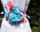 Cotton Candy, Ribbon Tie Belt Sash, Carnival, Shabby Chic Wedding