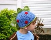 Crochet Dinosaur Beanie : Teen or Adult