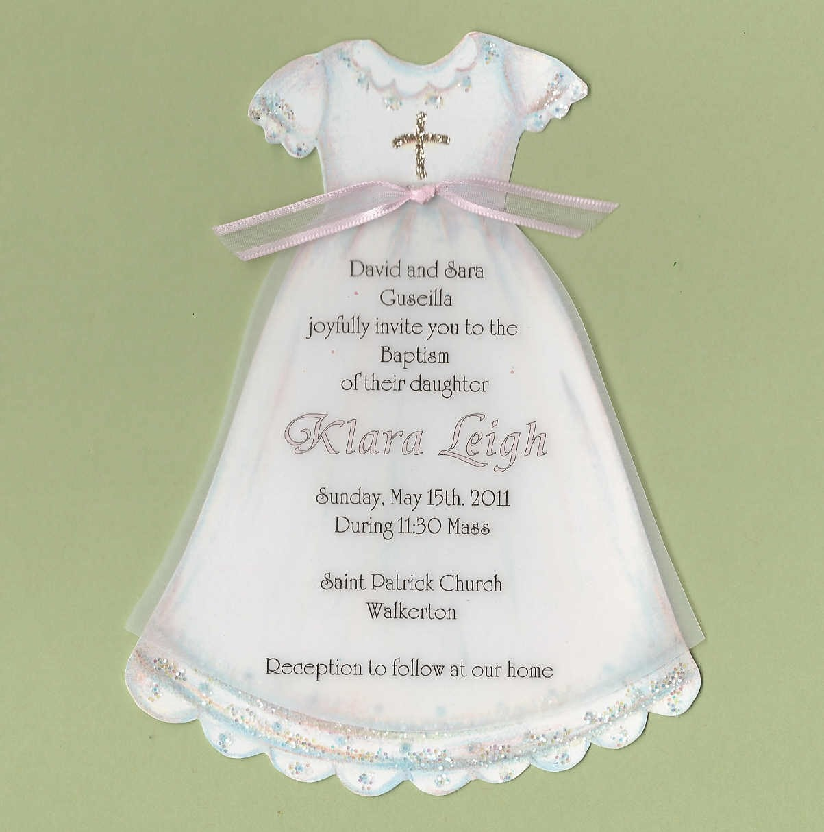 10 girl baptism communion dress personalized baptismal for Making baptism dress from wedding gown