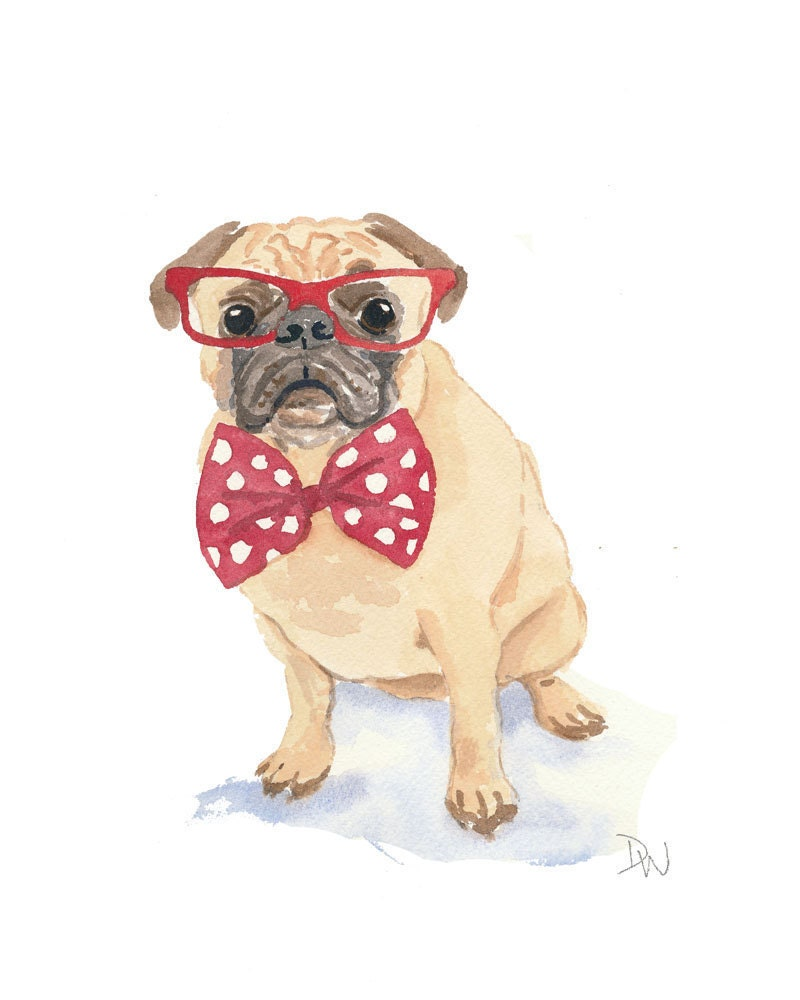 Dogs With Glasses Painting