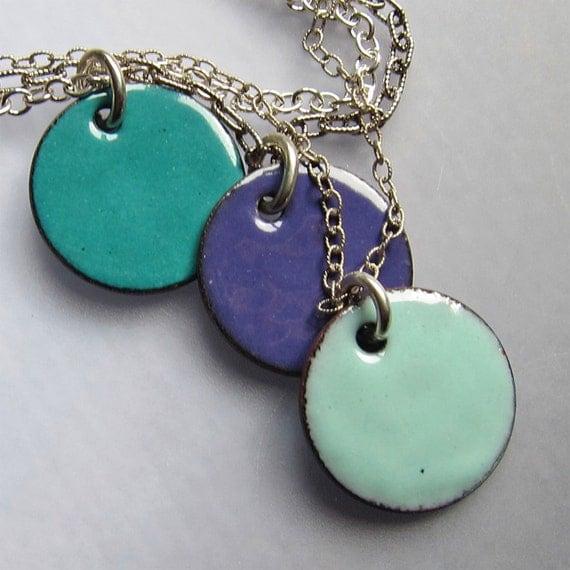 Enamel Layered Necklace, Modern Jewelry, Enamel Jewelry, Multi Strand Necklace