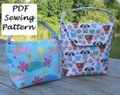 2 Sizes- Insulated Lunch Bag Pattern - Quick and Easy - PDF
