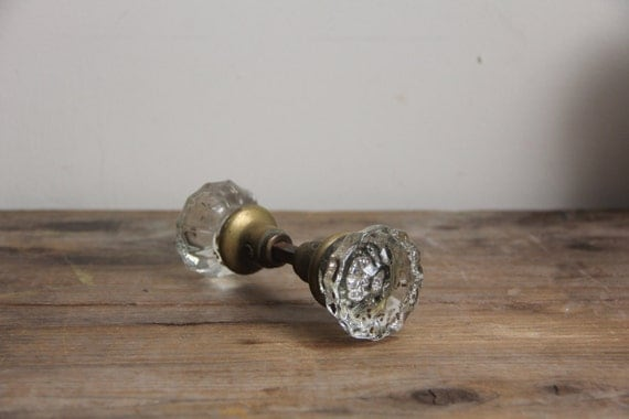 Vintage Decor // Clear Glass Door Knob