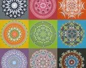 Set of 5 Mandala Note Cards - Blank Inside