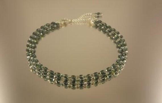 3 Strand Montana Blue and Vitrail Necklace