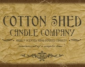 Rustic candle label design