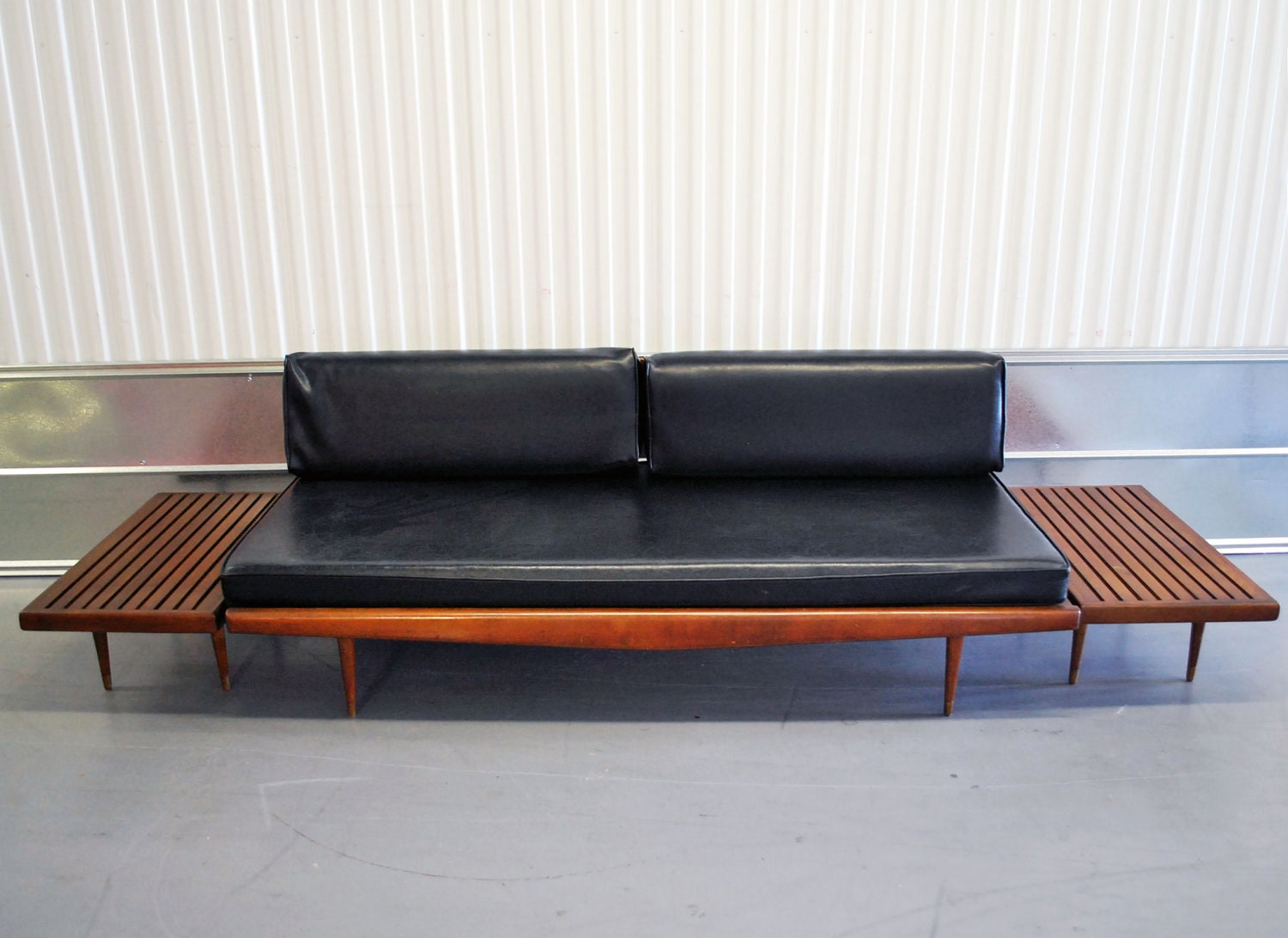 mid century danish modern eames era daybed sofa with two. Black Bedroom Furniture Sets. Home Design Ideas