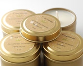 Handmade soy candles, natural soy candle,Aromatherapy Soy Candle,Set of 4 - 2 oz gold travel tins,gift set