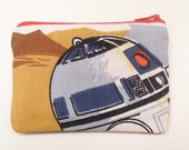 Star Wars Zipper Pouch - Make to Order - made with vintage Star Wars Return of the Jedi fabric